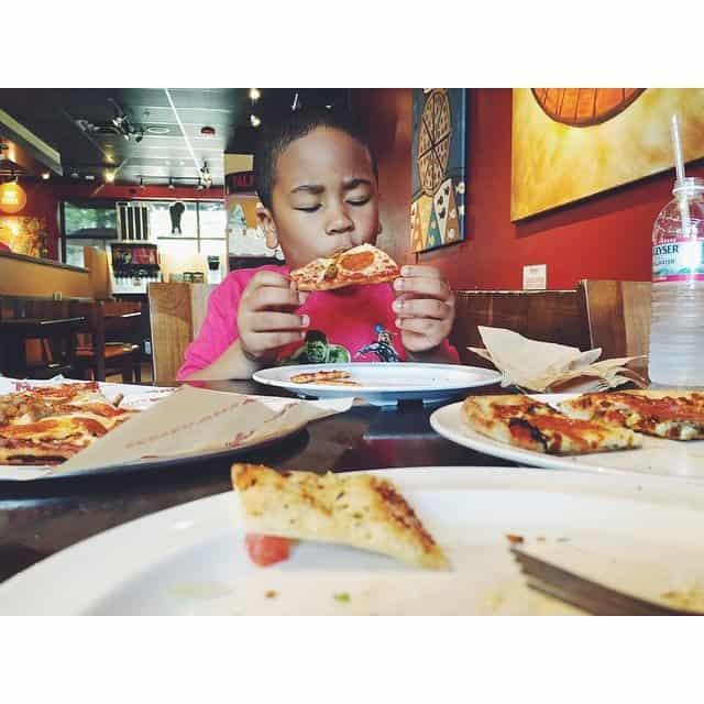 I promised him pizza. I've never met anyone who enjoys…