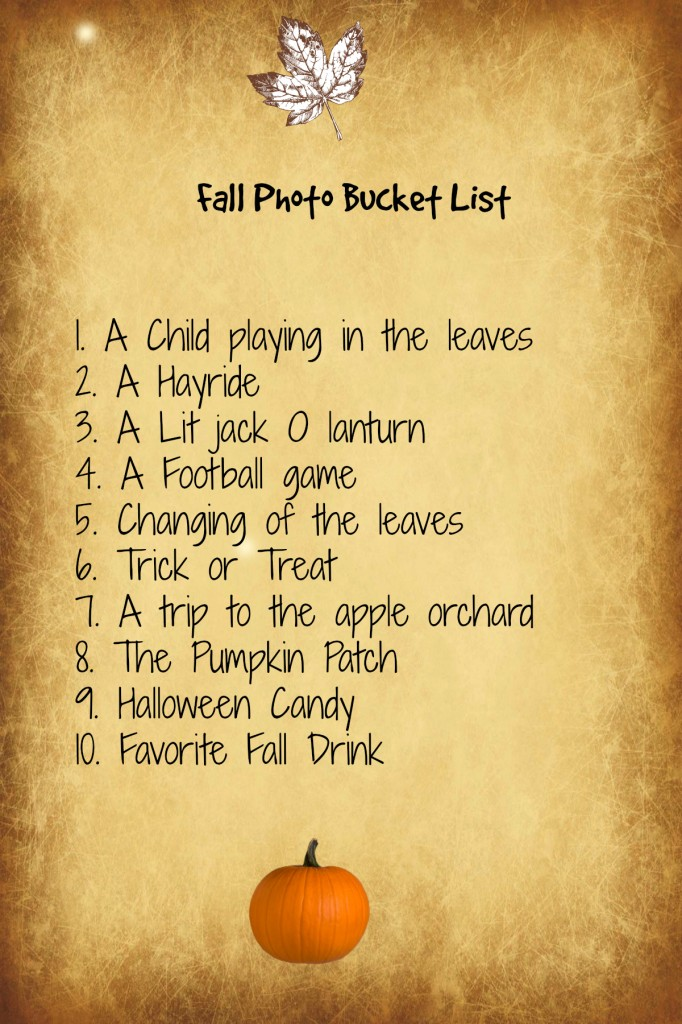 fall photos bucket list