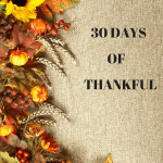 30 Days of Being Thankful