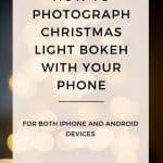 Easy tips to photography Christmas light Bokeh with your phone #chrsitmas #photography #chrsitmasmastree #bokeh #iphoneography