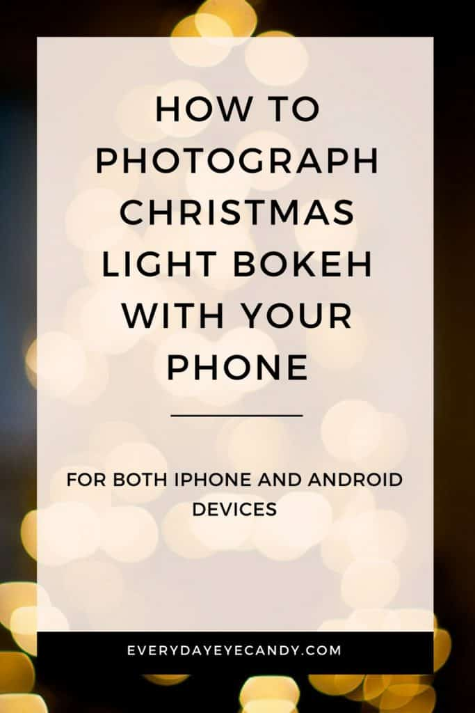 Easy tips to photography Christmas light Bokeh with your phone #christmas #photography #christmastree #bokeh #iphoneography