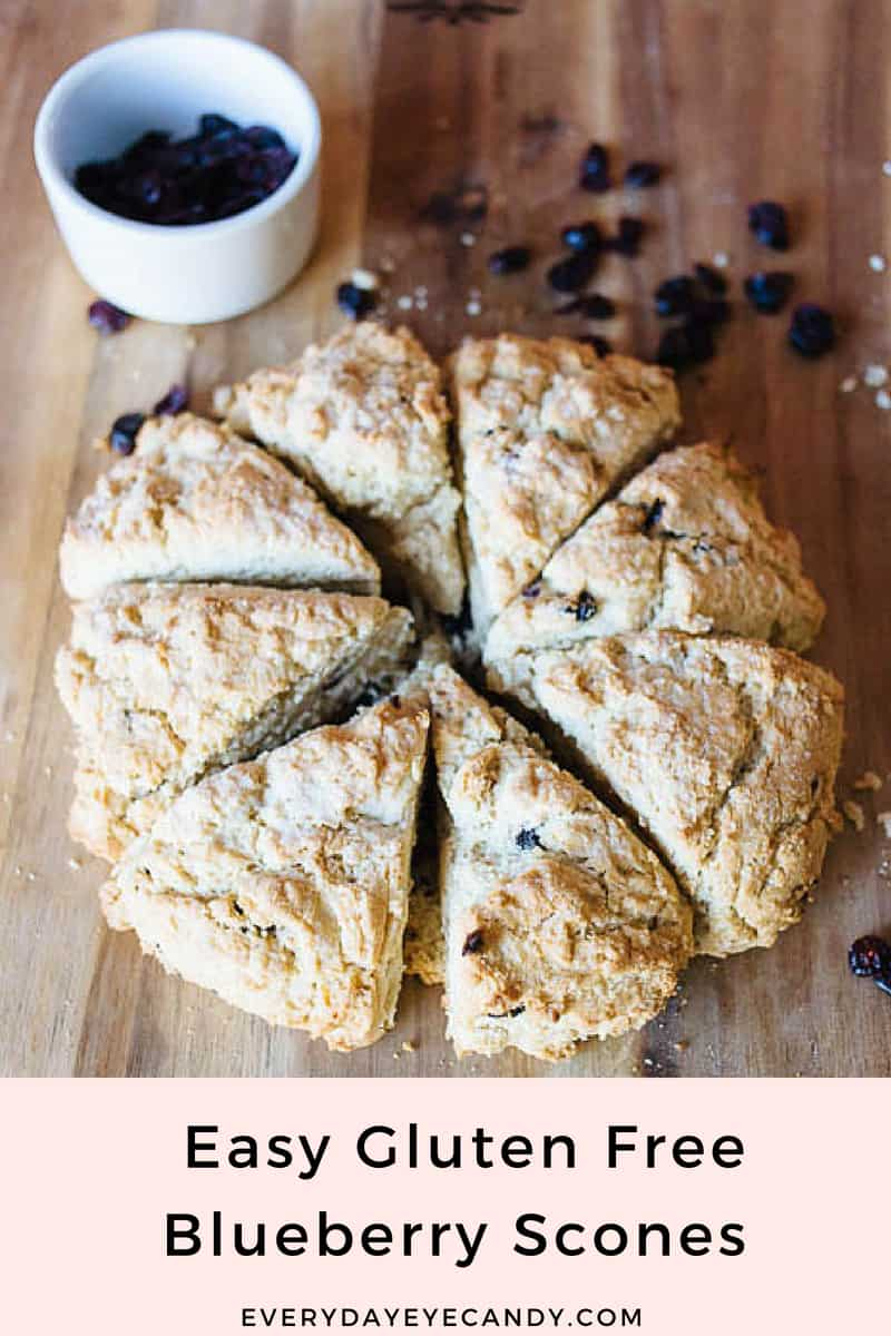 Want to make easy gluten free blueberry scones that taste just like starbucks? Check out this easy yummy recipe! #glutenfree #baking #scones