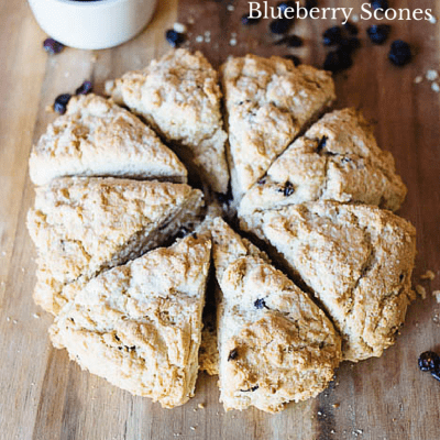 How to make Easy Gluten Free Blueberry Scones
