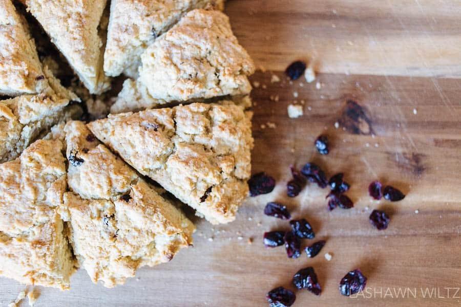 easy gluten free blueberry scones