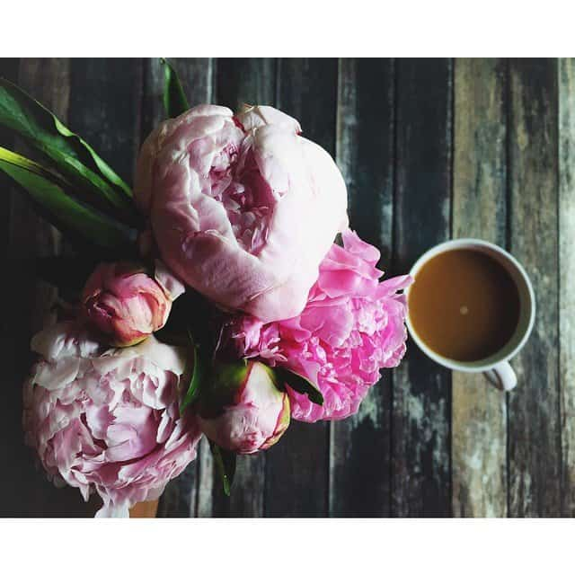 179365 Arranging my Peonies and having coffee! What a greathellip