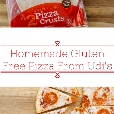 Homemade Pizza with Udi's Gluten Free Pizza Crust