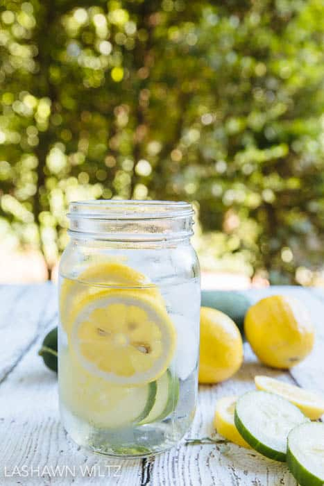 lemon and cucumber fruit infused water recipe