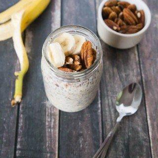 banana nut bread overnight oats-2