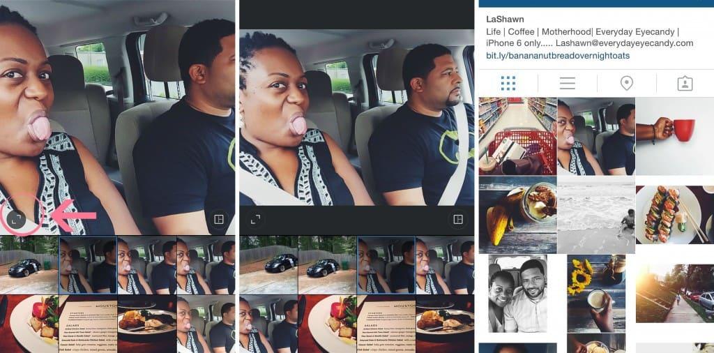 Uploading horizontal photos to instagam