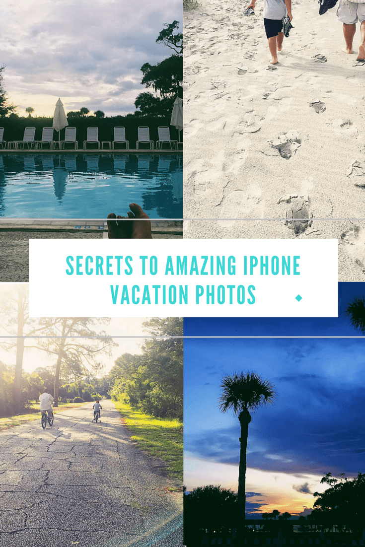 Are you tired of carrying around your BIG camera when you go on vacation in order to get beautiful vacation photos? Check out my tips for amazing iPhone vacation photos