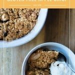 It's Fall and the perfect time to try out this easy Gluten Free Apple Crisp Recipe! It is SO GOOD!