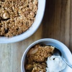 Try out this easy Gluten Free Apple Crisp Recipe! Perfect for a fall day!
