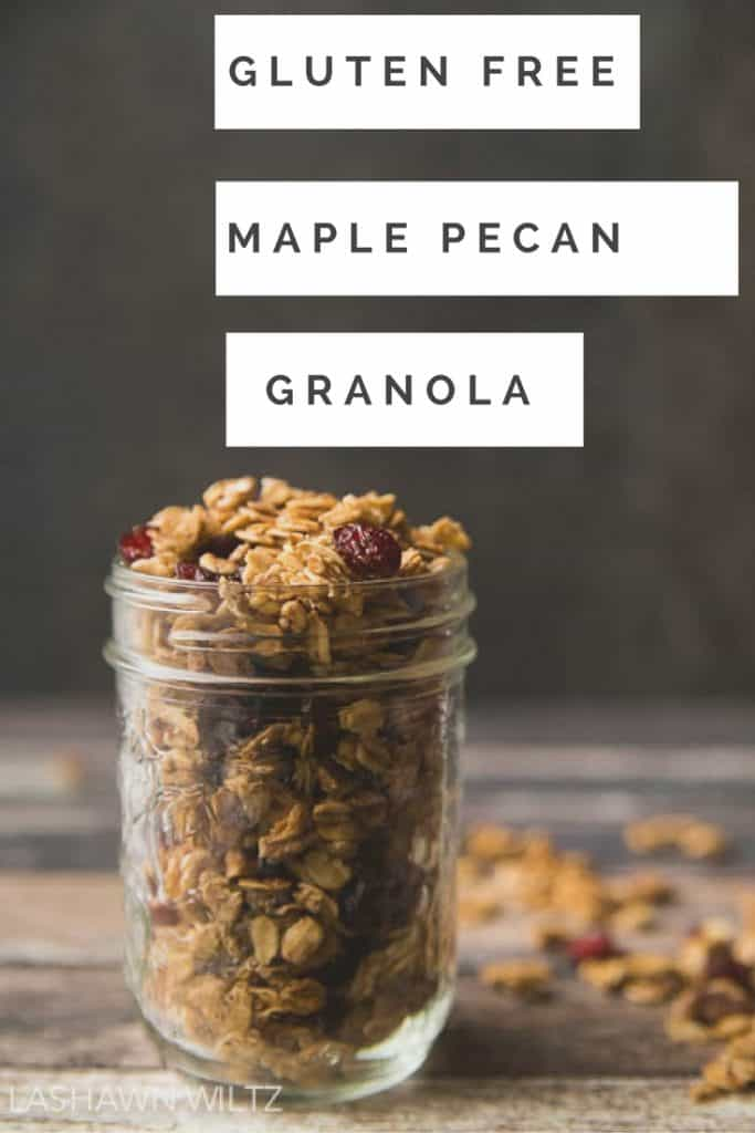 This Gluten Free granola recipe is perfect for a quick breakfast or even just a quick snack!