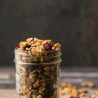 Gluten Free Maple Pecan Granola with Cranberries