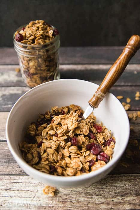 Making your own granola is not hard! This gluten free maple pecan granola was so easy to make! And do GOOD!
