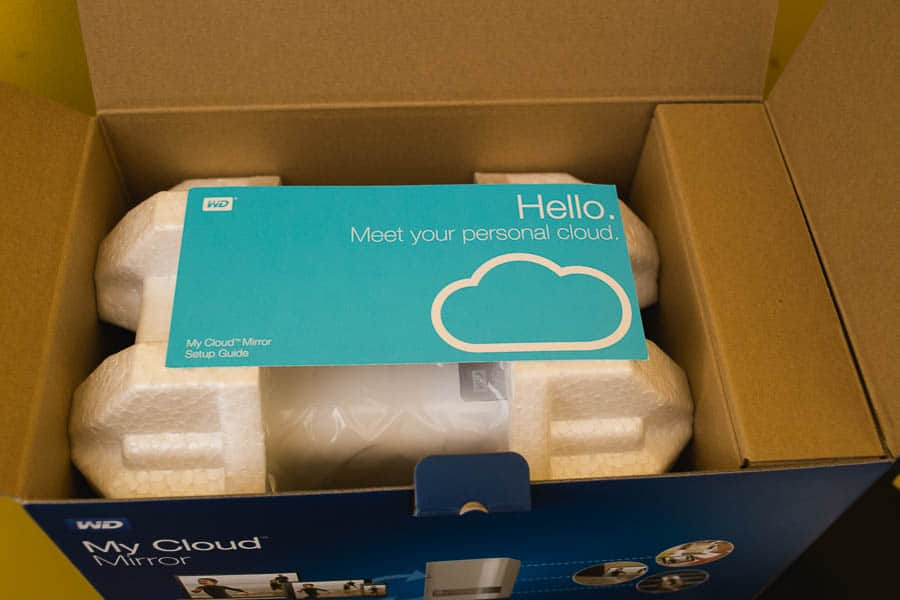 My new WD cloud Mirror helps me organize all my photos in one place!