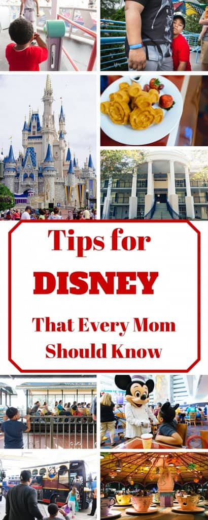 After our trip to Disney, I came up a few tips that every mom needs to know for Disney