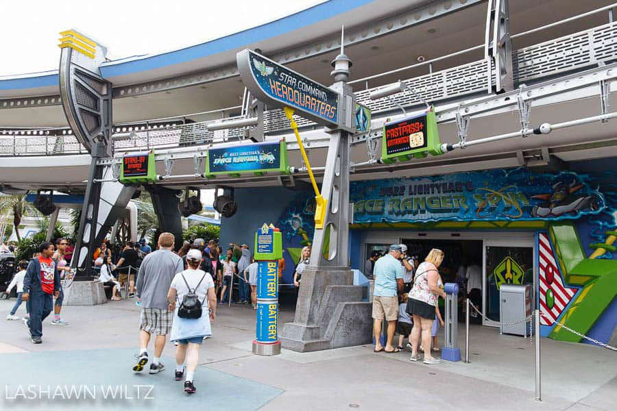 One of my tips for Disney is to get the fast pass so that you can ride rides like Buzz Lightyear over and over again!