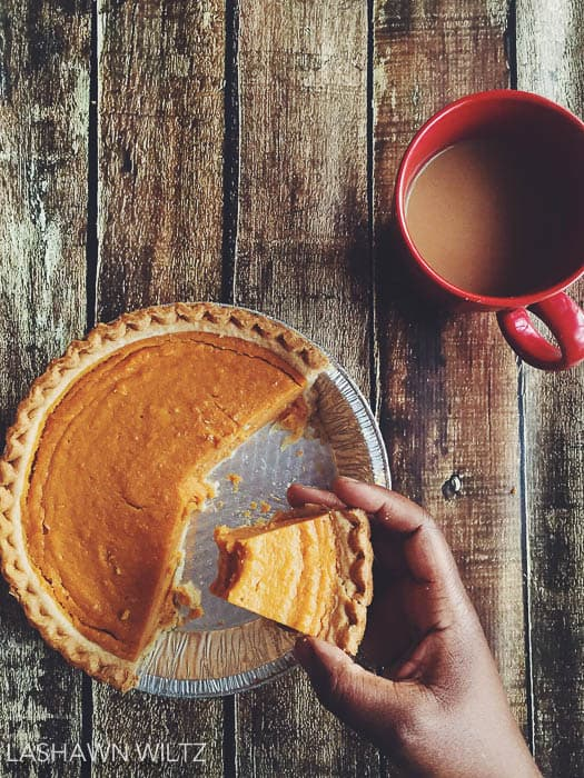 The morning after Christmas should always start with coffee and sweet potato pie.