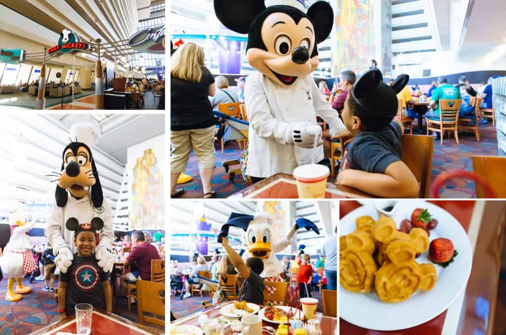 Tips for Disney: eating at Disney, take advantage of the Disney Dining Plan to eat at Chef Mickey's