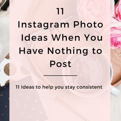11 Photo ideas for Instagram