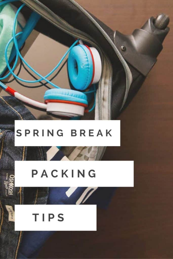 Spring break is the beginning of travel season for families and that means it's time to pack! Check out these 5 spring break packing tips!
