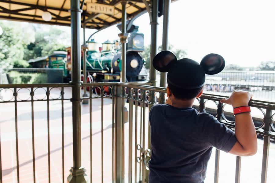 magic kingdom train ride