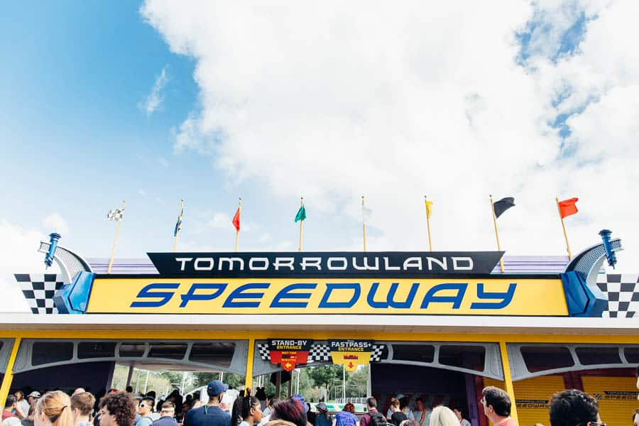 tomorrow land speedway at magic kingdom