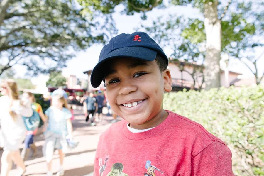 happy boy at Disney Hollywood Studios