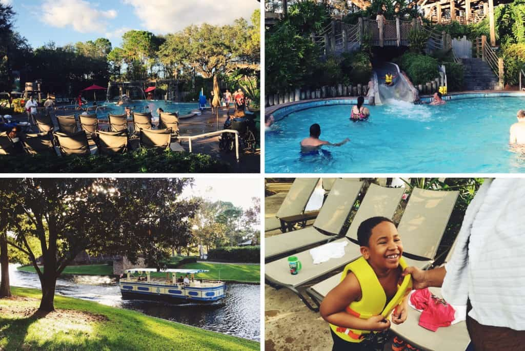 Fun times pool side at the Port Orleans Riverside resort