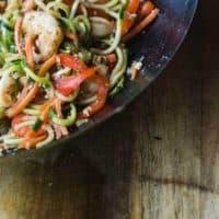 Zucchini Noodles and Shrimp Stir Fry