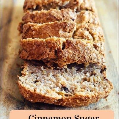 Gluten Free Cinnamon Sugar Banana Nut Bread