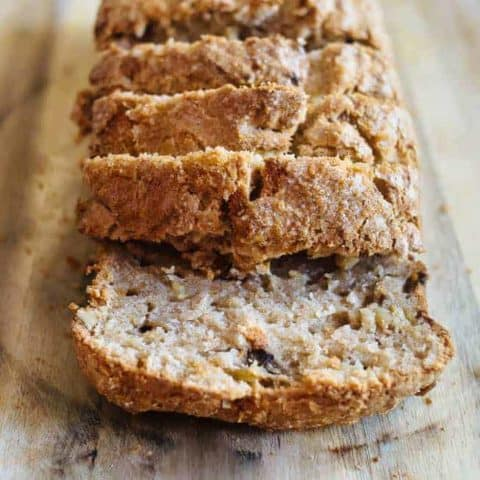 Gluten Free Cinnamon Sugar Banana Nut Bread..