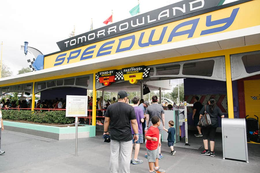 off to ride the tomorrowland speedway again!