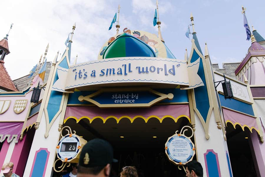 we love it's a small world in the Magic Kingdom