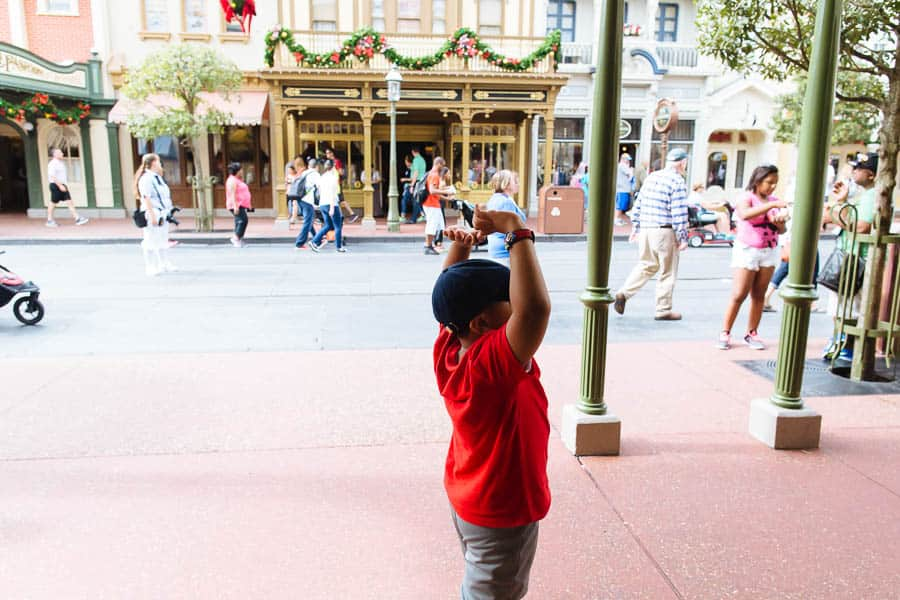 parage time on mainstreet at the magic kingdom