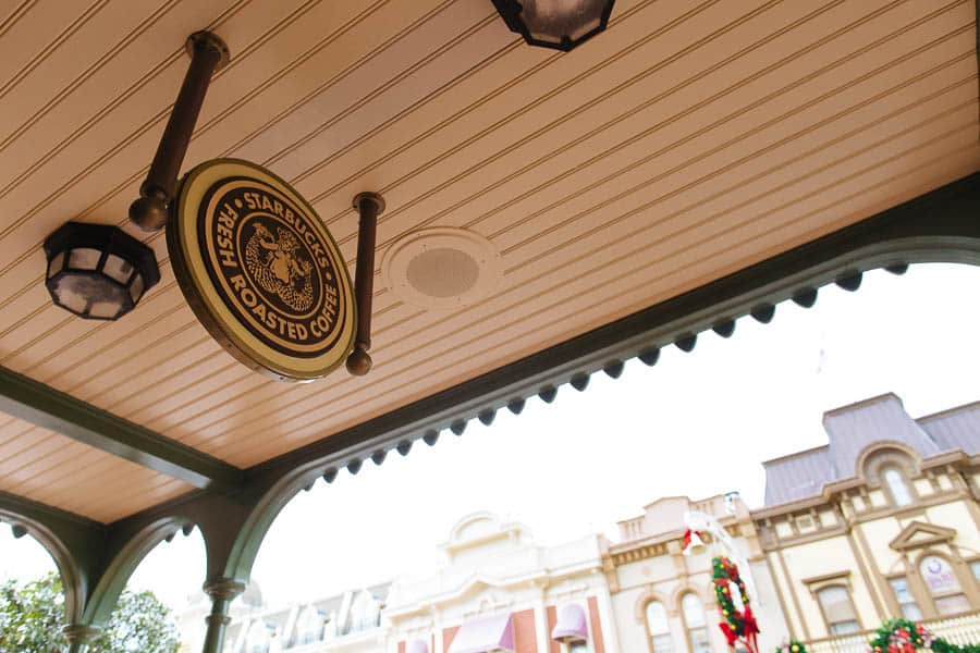 starbucks at the magic kingdom!