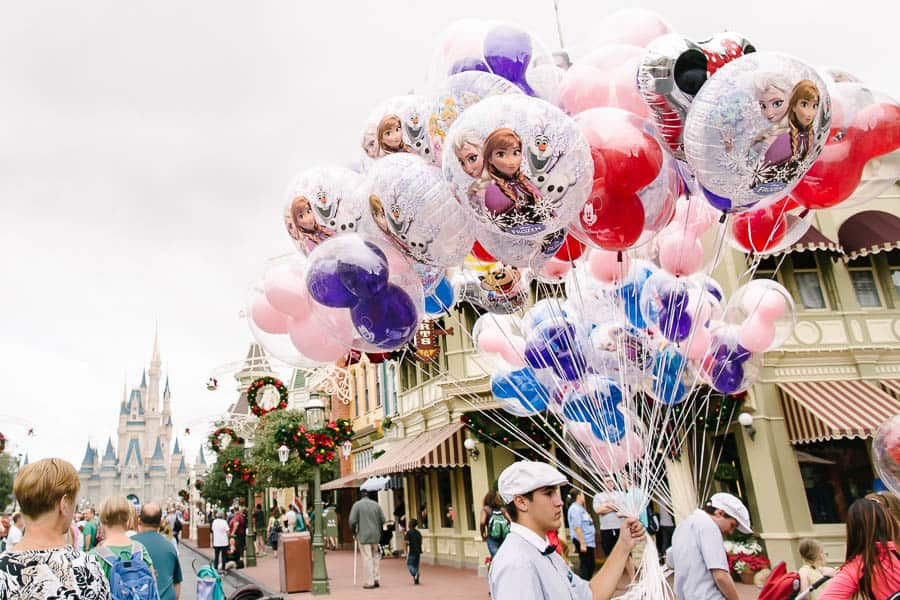Balloons on main street at disneyworld