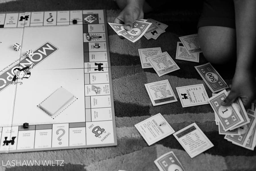 his month's letters to our children's post focuses on a game of monopoly