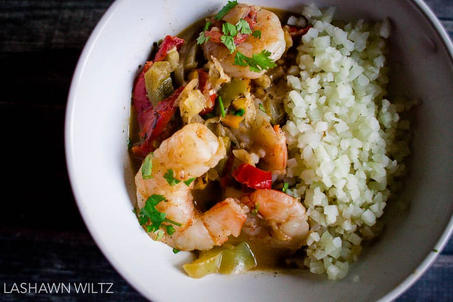 I'm not on whole 30 anymore, but this coconut shrimp stew is...so damn good.