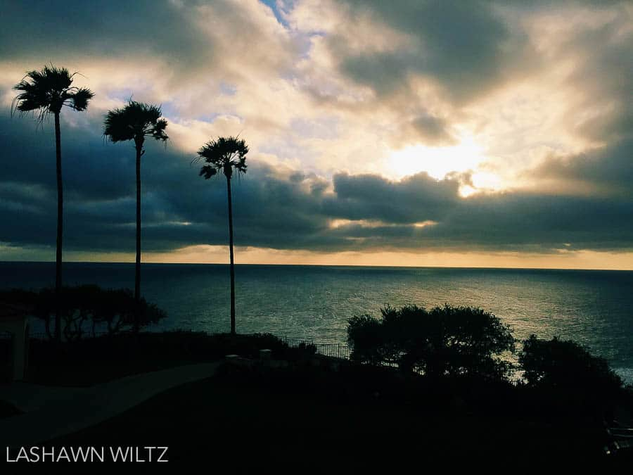 Beautiful sunset at Laguna Beach