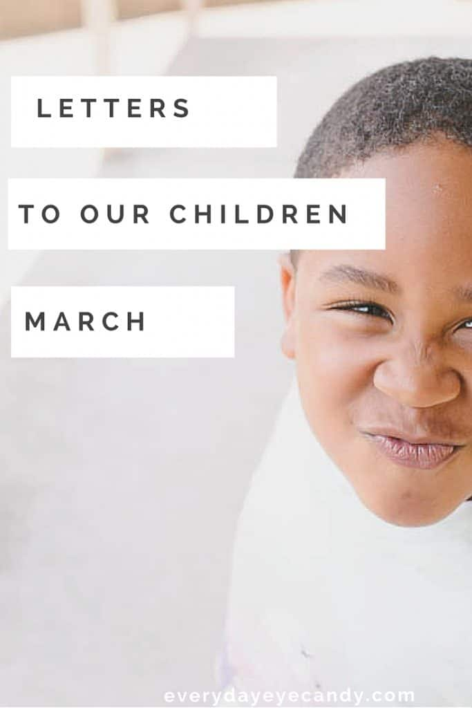 Each month, I write a letter to my son . Link up!