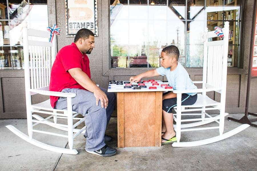 Day 5: Just a game of checkers at Cracker Barrel.