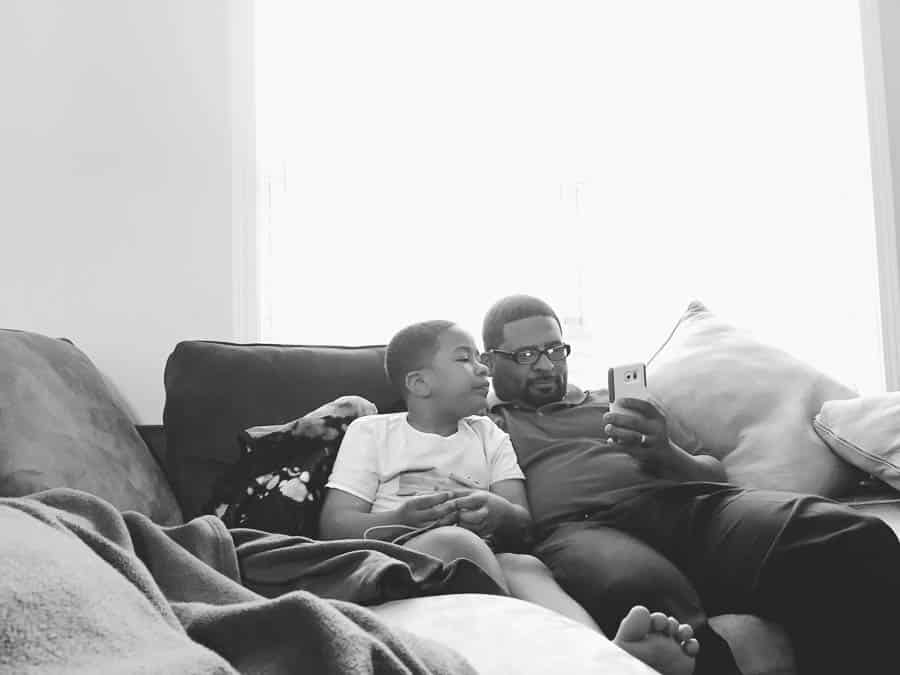 Day 9: father and son chilling