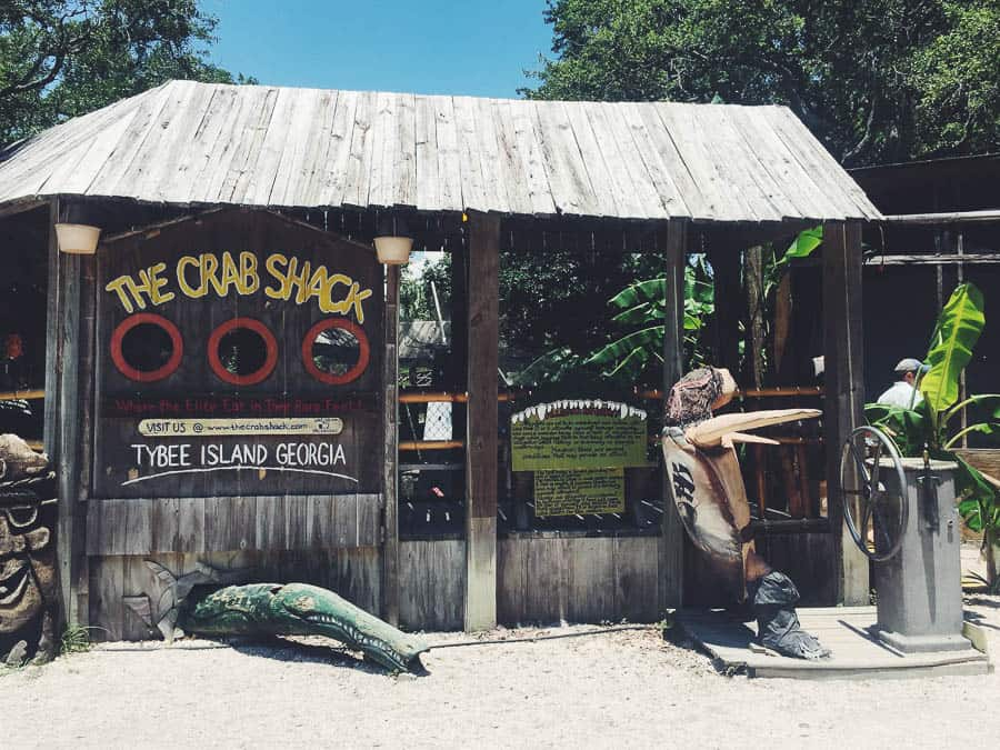 Lunch at the Crab Shack on Tybee Island