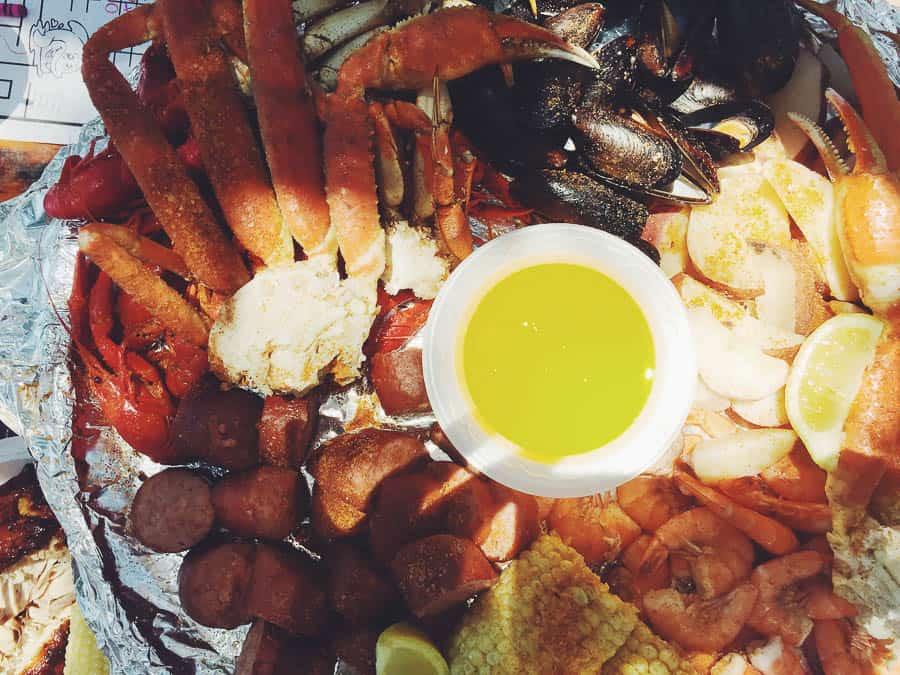 Captain Crab's Sampler Platter at Crab Shack on Tybee Island