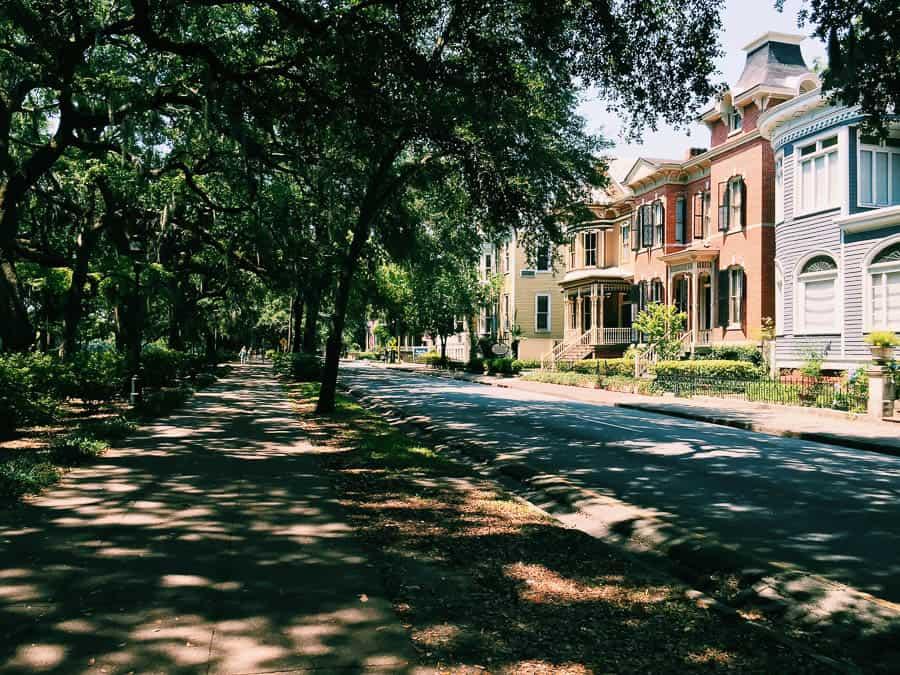 Beautiful houses in Savannah, georgia