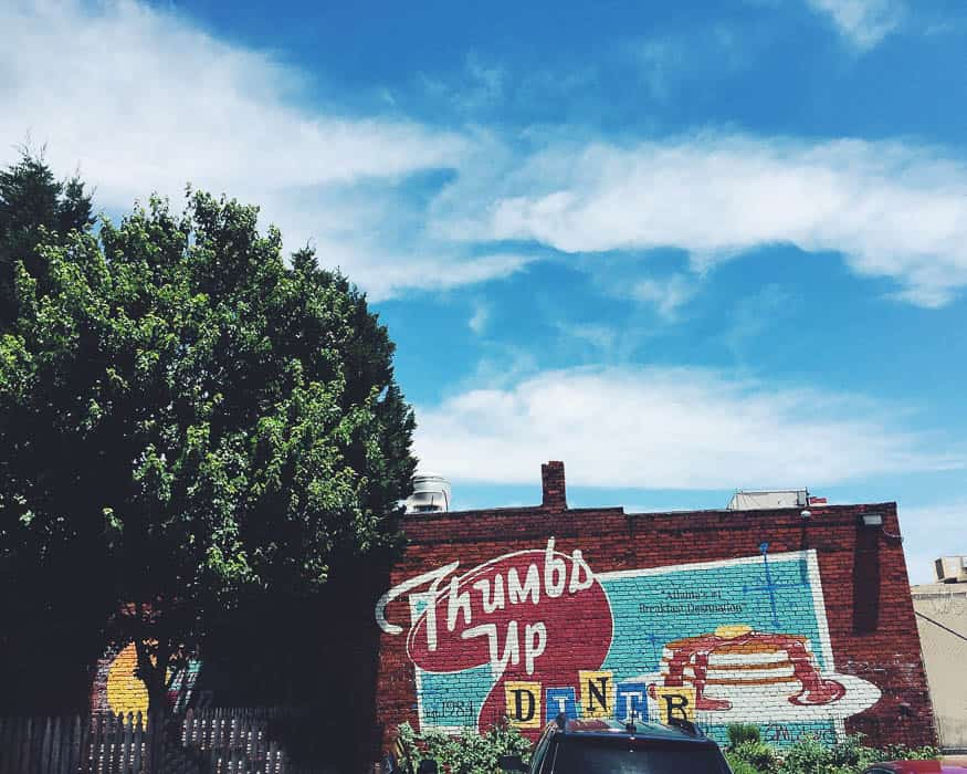 Brunch on sunday at Thumbs up Diner in Edgewood