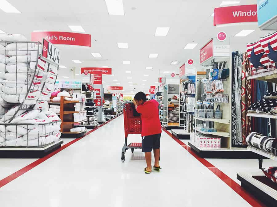 We enjoyed a little time at Target