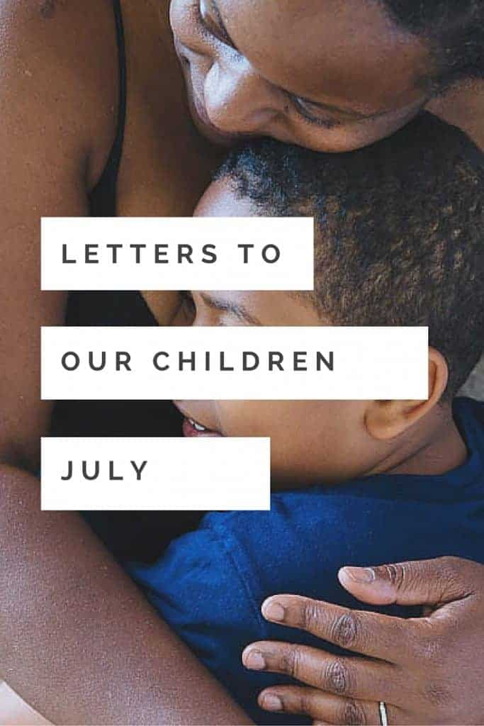 Every month I write a letter to my son. Link up with me and write a letter to your child!